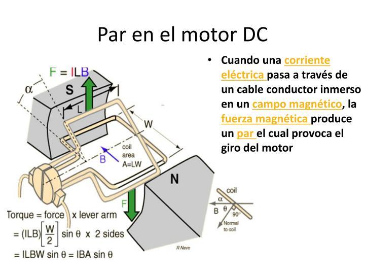 Par en el motor DC