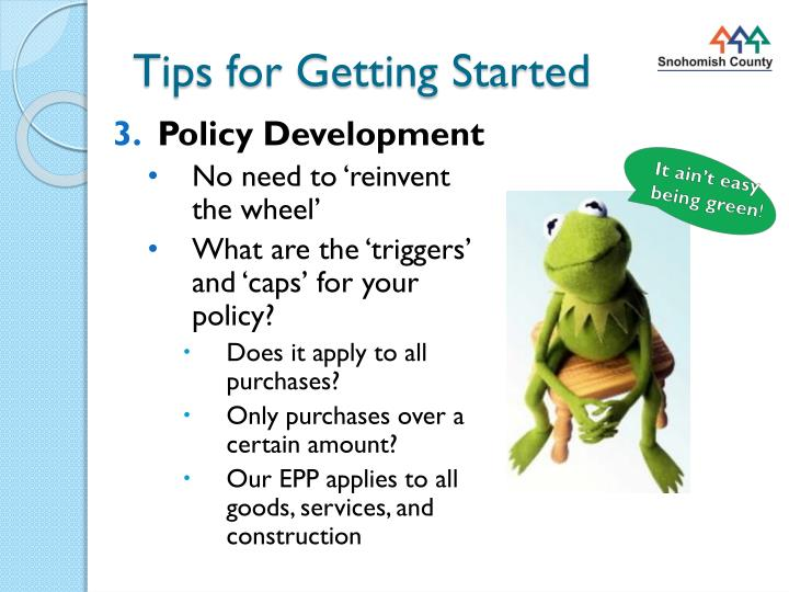 Tips for getting started1