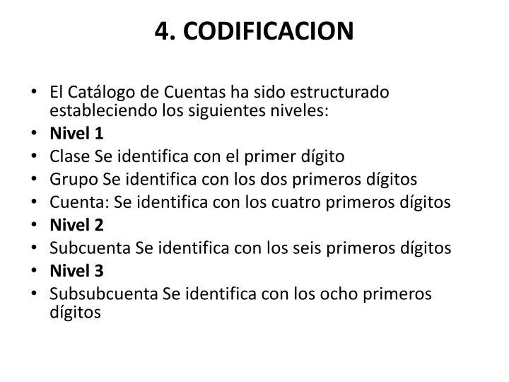 4. CODIFICACION