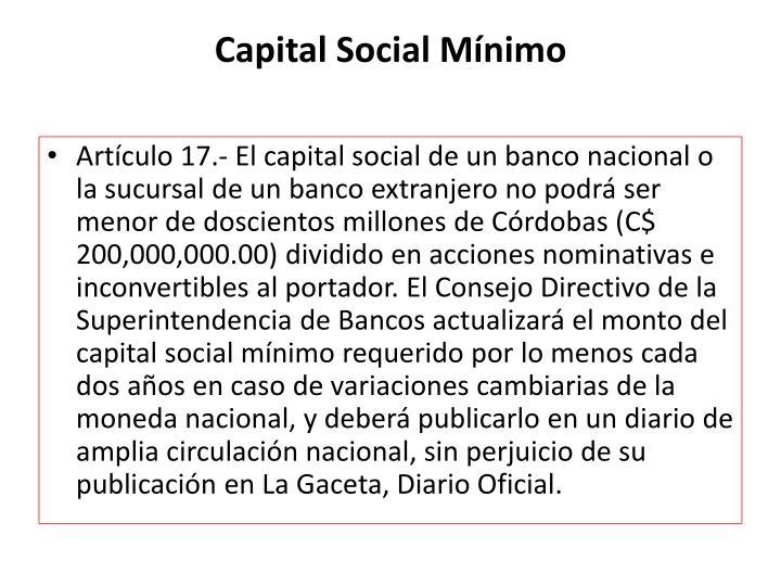 Capital Social Mínimo