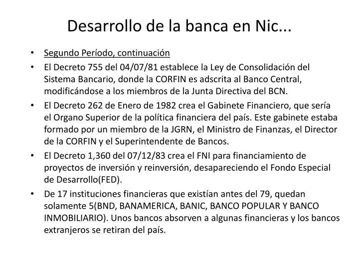 Desarrollo de la banca en Nic...