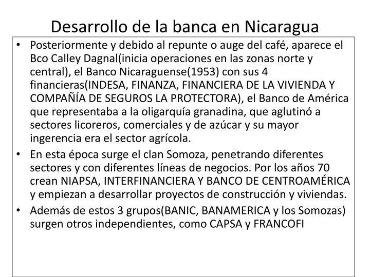 Desarrollo de la banca en Nicaragua