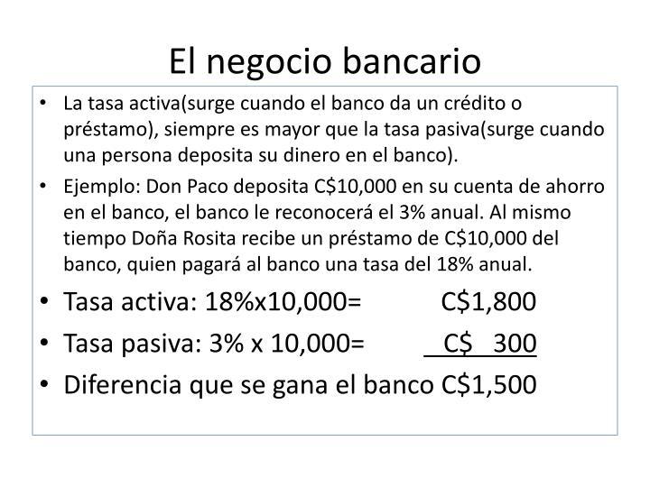 El negocio bancario