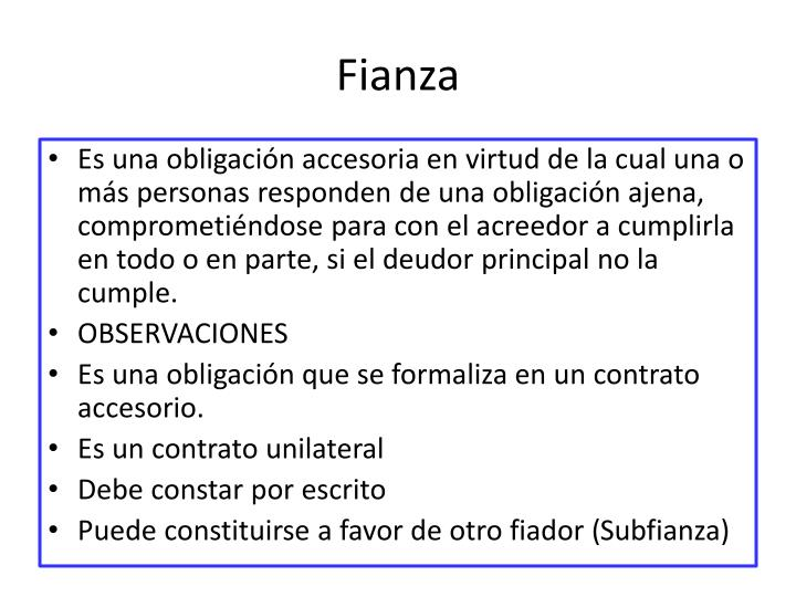 Fianza