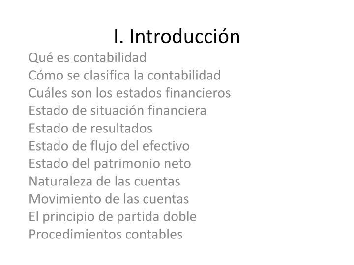 I. Introducción