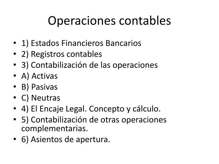 Operaciones contables