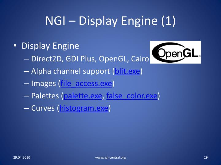 NGI – Display Engine (1)