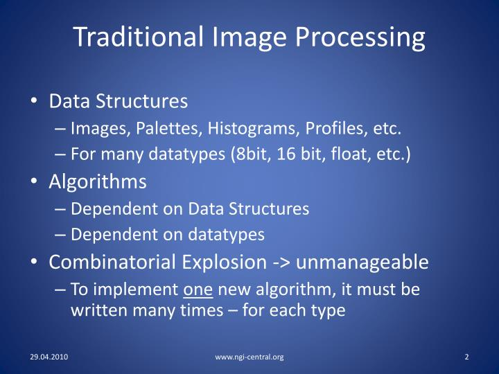 Traditional Image Processing