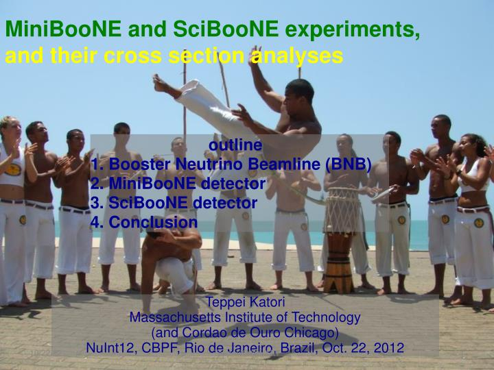 miniboone and sciboone experiments and their cross section analyses n.