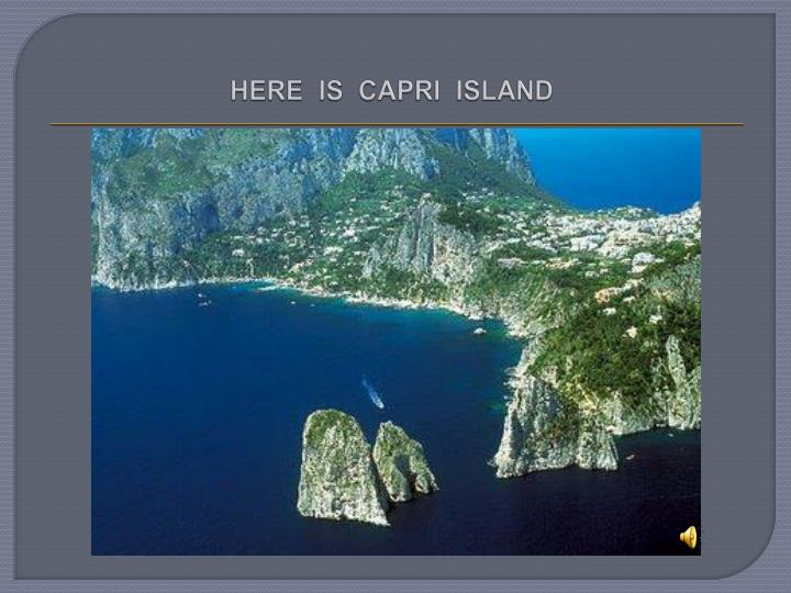 here is capri island n.