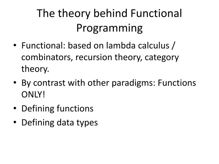 the theory behind functional programming n.