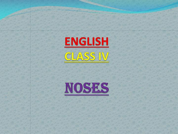 english class iv noses n.