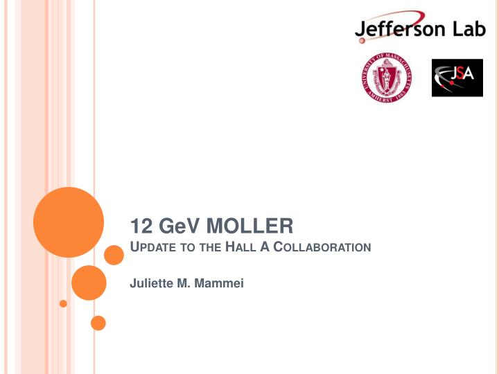 12 g e v moller update to the hall a collaboration n.