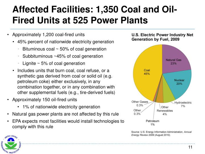Affected Facilities: 1,350 Coal and Oil-Fired Units at 525 Power Plants