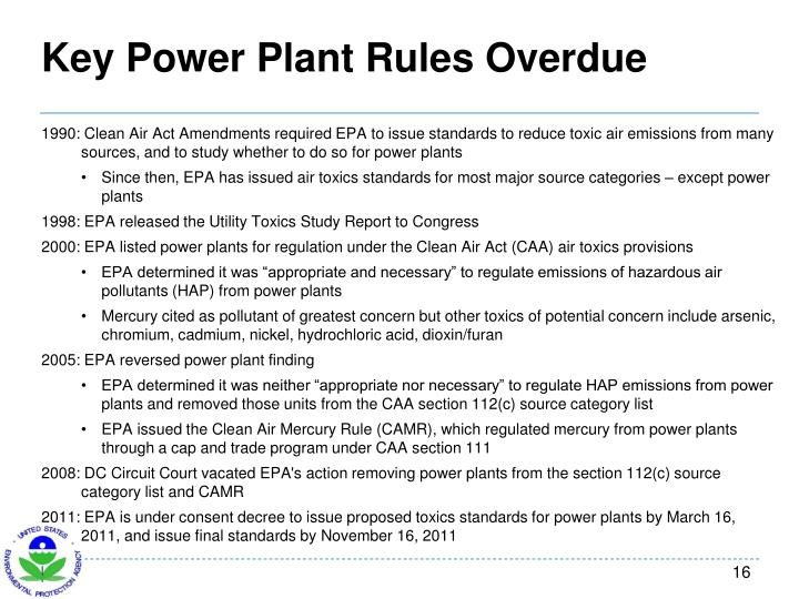 Key Power Plant Rules Overdue
