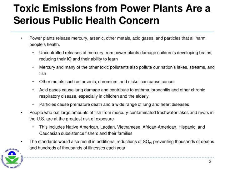 Toxic emissions from power plants are a serious public health concern