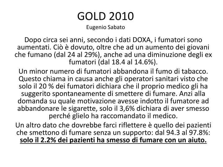 gold 2010 eugenio sabato n.