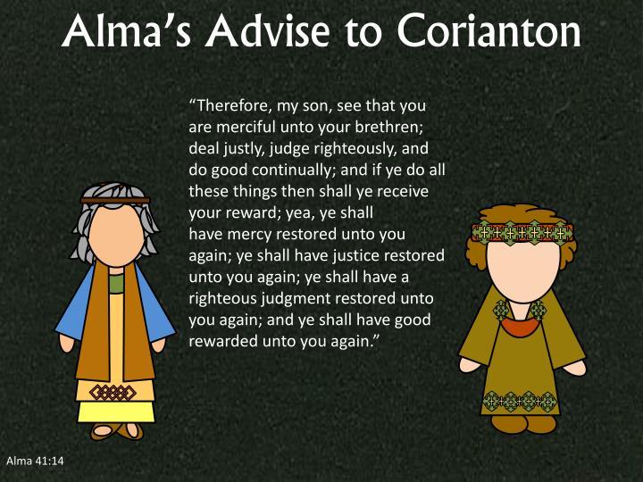 Alma's Advise to