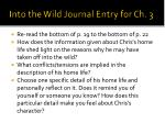 into the wild journal entry for ch 3