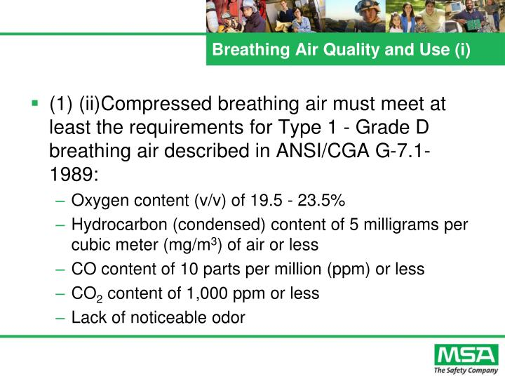 Breathing Air Quality and Use (i)