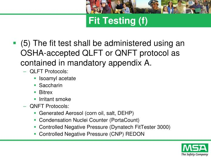 Fit Testing (f)