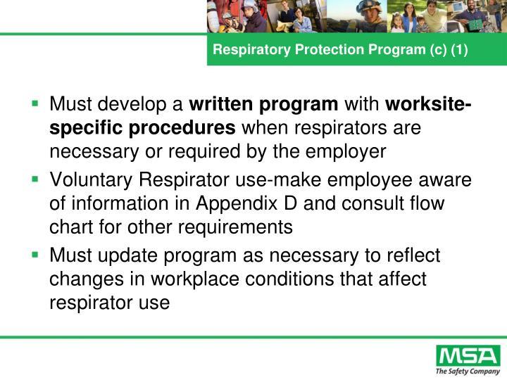 Respiratory Protection Program (c) (1)
