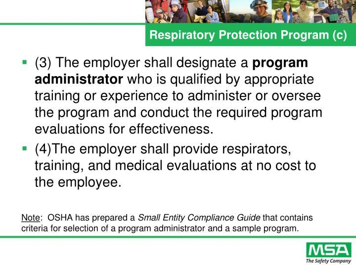 Respiratory Protection Program (c)