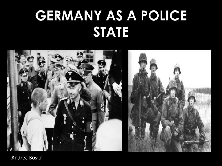 germany as a police state n.