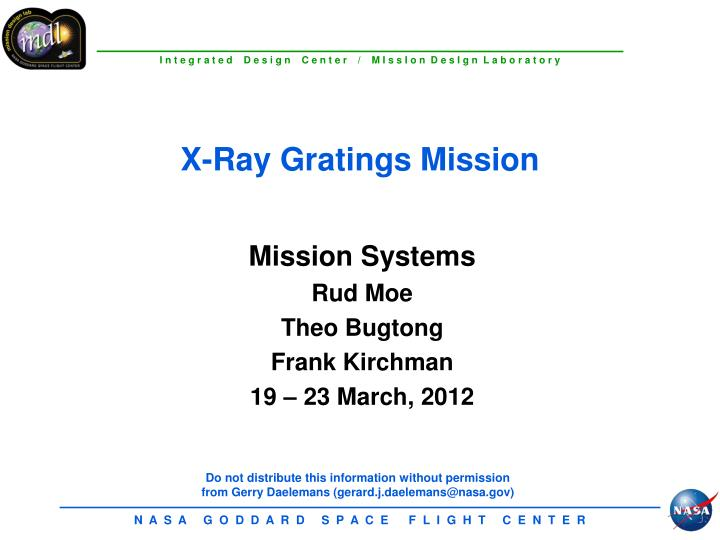 X ray gratings mission