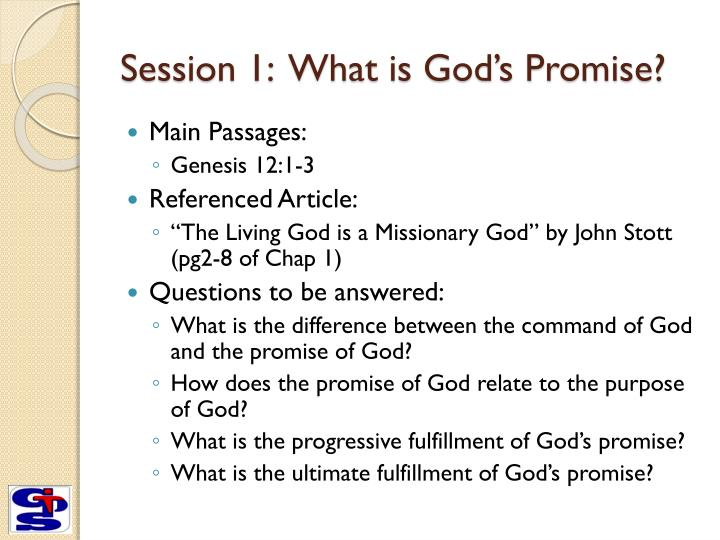 Session 1 what is god s promise