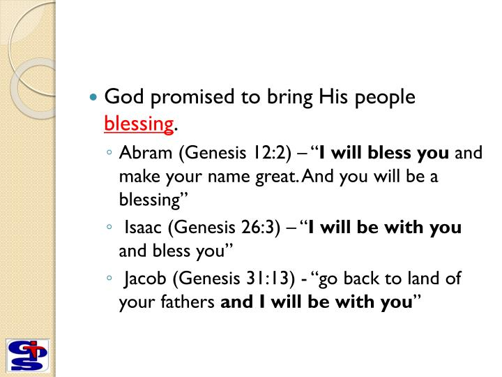 God promised to bring His people