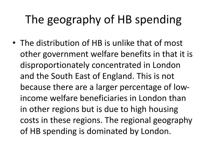 The geography of HB spending