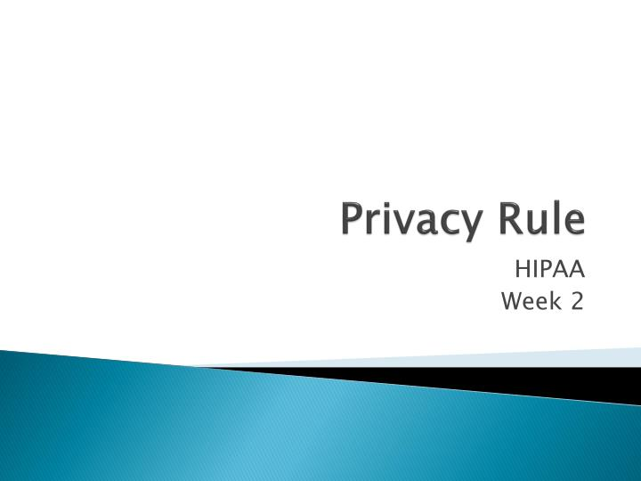 privacy rule n.