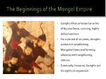 the beginnings of the mongol empire2