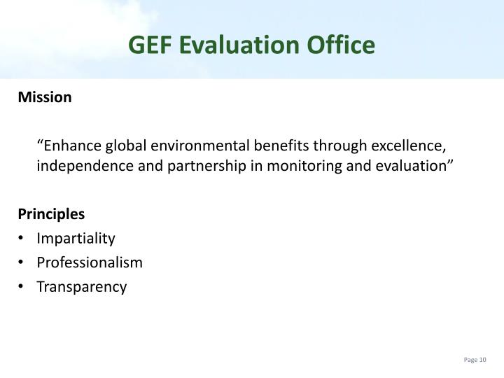 GEF Evaluation Office
