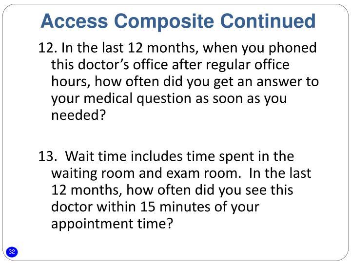 Access Composite Continued