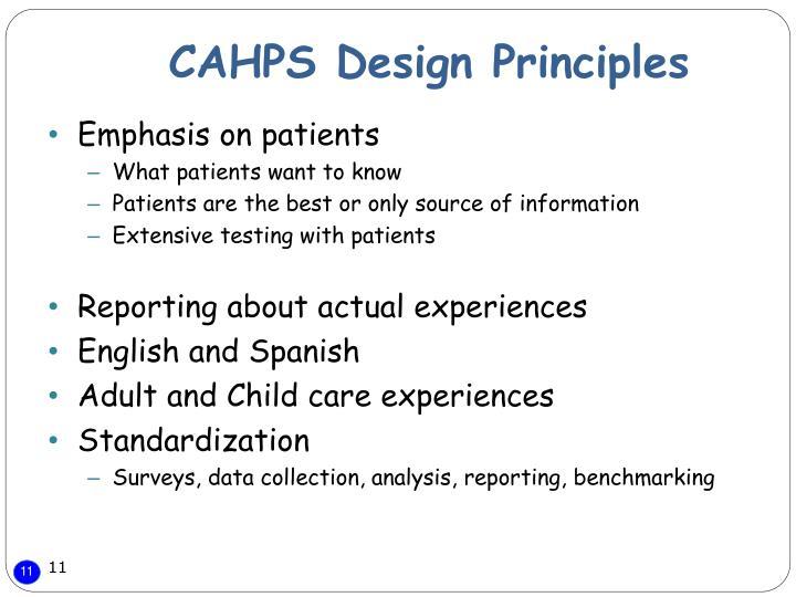 CAHPS Design Principles