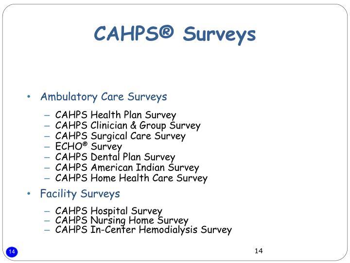 Ambulatory Care Surveys