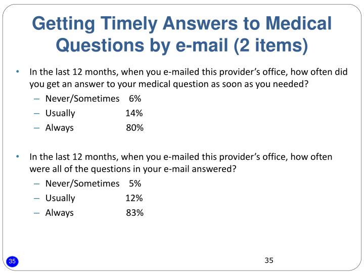 Getting Timely Answers to Medical