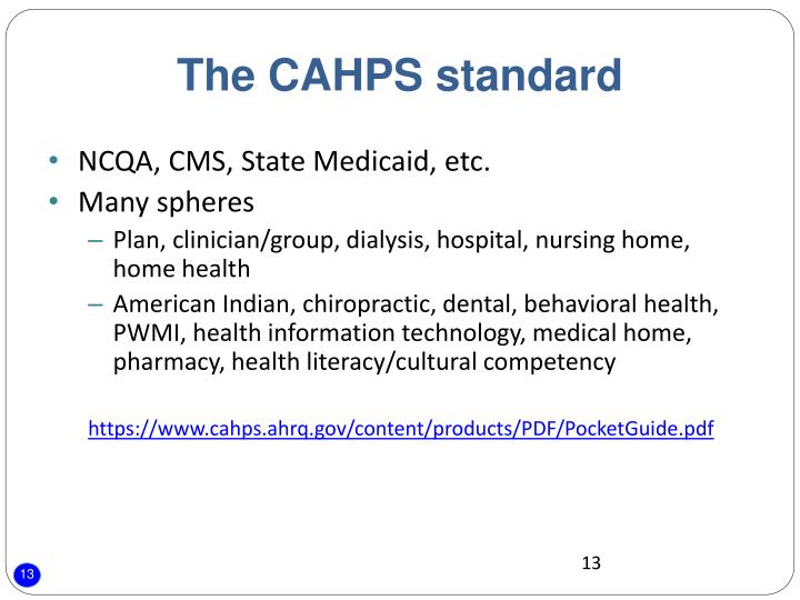 The CAHPS standard