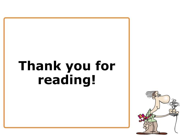 Thank you for reading!