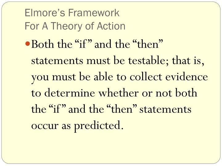 Elmore's Framework