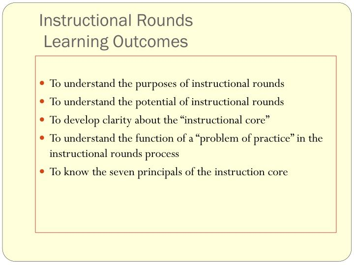 Instructional rounds learning outcomes