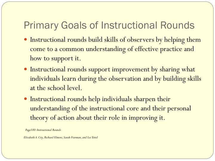 Primary Goals of Instructional Rounds