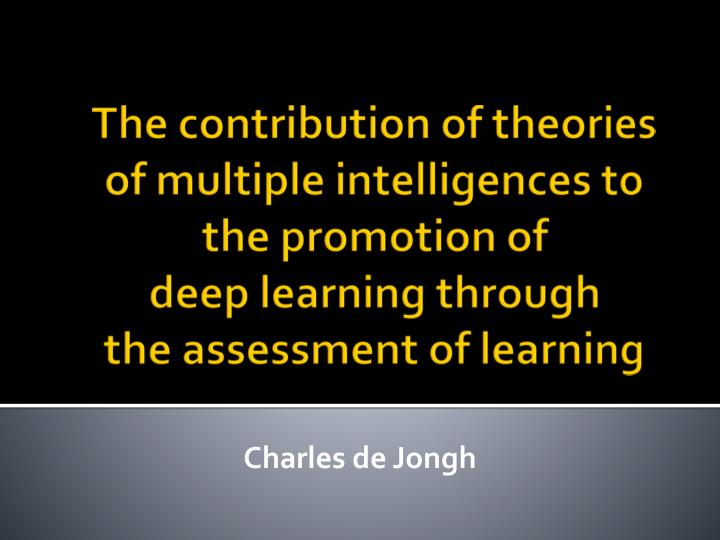 The contribution of theories