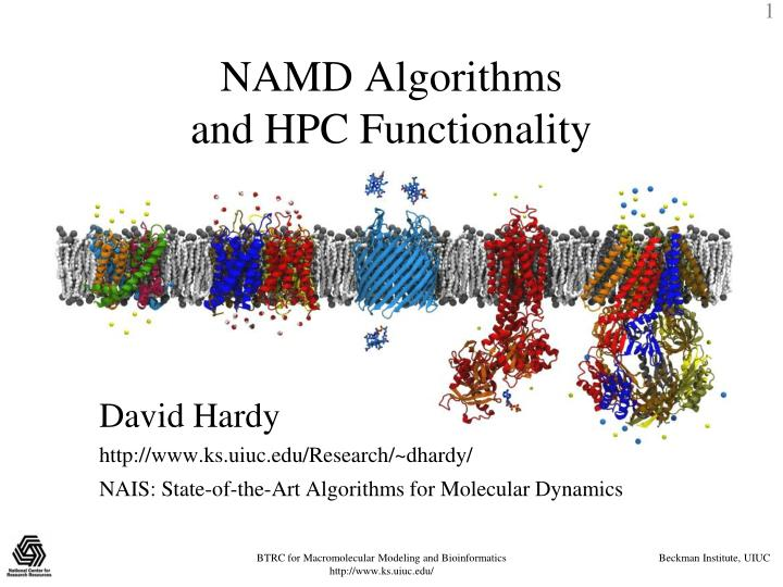 namd algorithms and hpc functionality n.