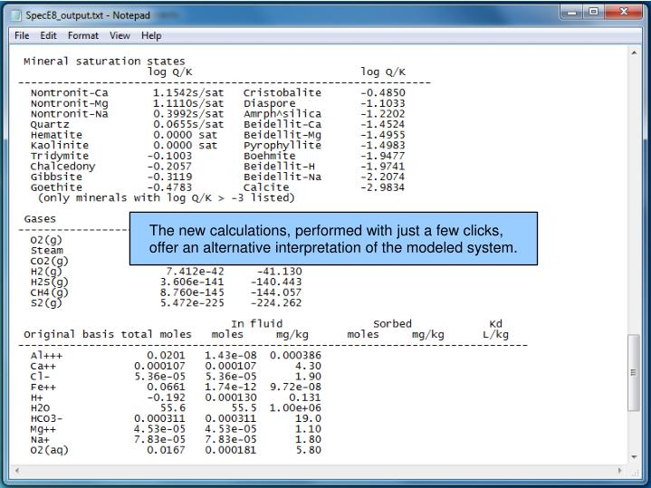 The new calculations, performed with just a few clicks,