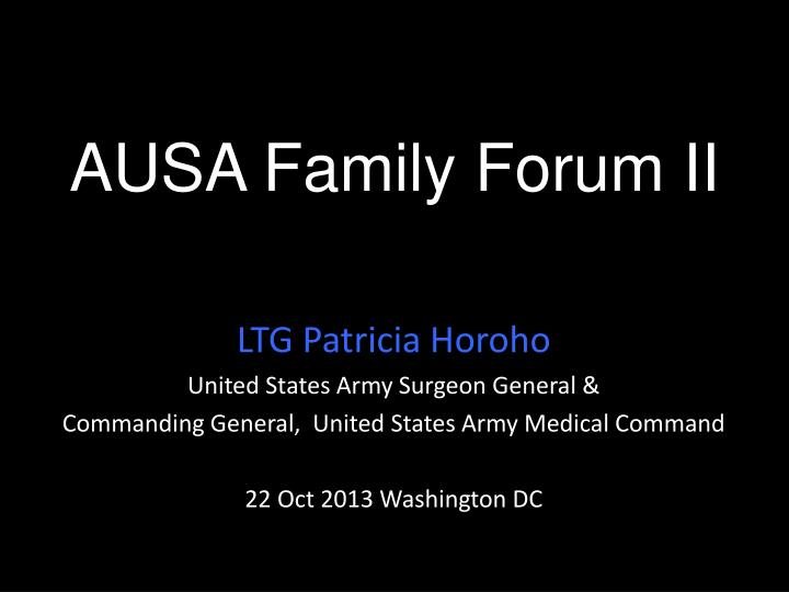 ausa family forum ii n.
