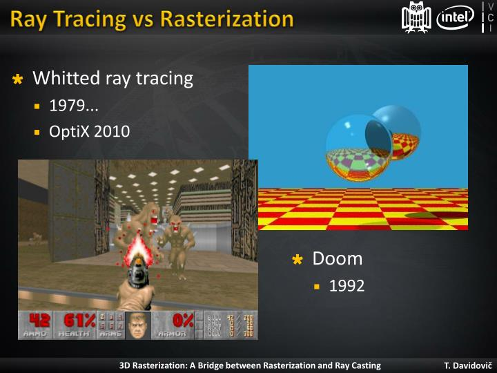 Ray tracing vs rasterization