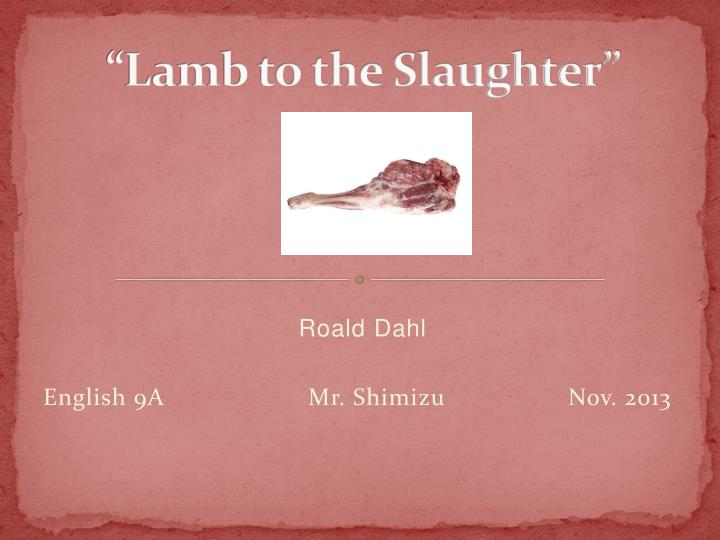 lamb to the slaughter n.